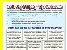 Lets stop bullying advice leaflet for parents altavistaventures Image collections
